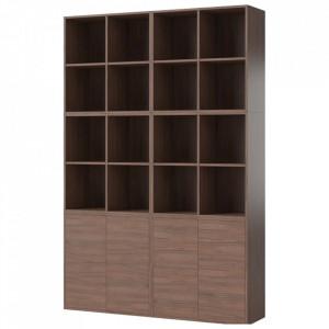 Biblioteca maro nuc din lemn 210 cm Combination Bolia