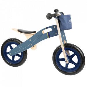 Bicicleta fara pedale multicolora din lemn si placaj Balance Paper Small Foot