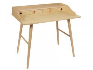Birou din lemn de stejar si MDF 100 cm Bisso Santiago Pons