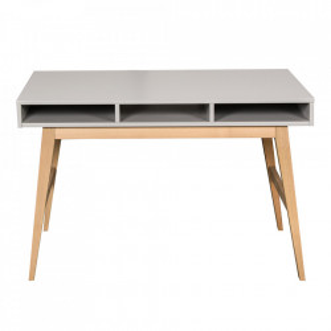 Birou gri/maro din MDF si lemn 66x120 cm Trendy Quax