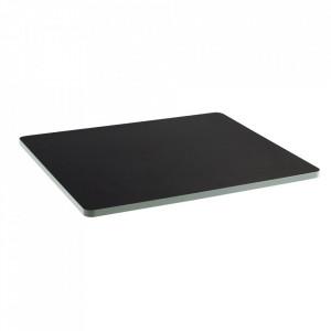 Blat pentru masa negru/verde din lemn 60x75 cm Sanba Serax