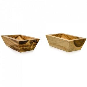 Bol maro din lemn de suar 23x36 cm Isaac Versmissen