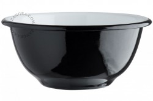 Bol negru din email 15,5 cm Eve Black Zangra
