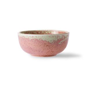 Bol roz rustic din portelan 11 cm Home Chef HK Living