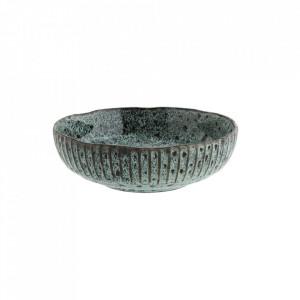 Bol verde/negru din ceramica 26 cm Natural Madam Stoltz
