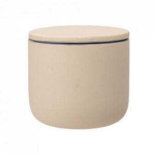 Borcan crem din ceramica cu capac 8x9 Anne Bloomingville