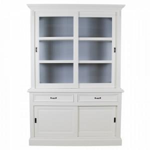 Bufet alb/gri din lemn 220 cm Provance HSM Collection