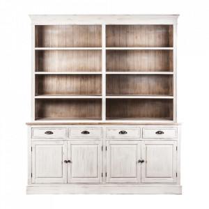 Bufet alb/maro din lemn 226 cm Leuca Vical Home