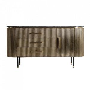 Bufet inferior auriu/negru din MDF si fier 150 cm Valbruna Vical Home