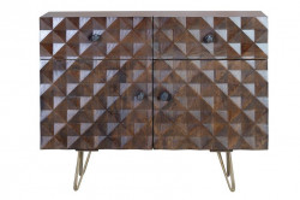 Bufet inferior maro din lemn de mango si metal 100 cm Shaun Giner y Colomer