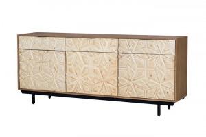 Bufet inferior maro din lemn de mango si metal 183 cm Kaiya Giner y Colomer
