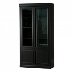 Bufet negru din lemn de pin 215 cm Organize Be Pure Home