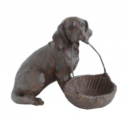 Caine decorativ din rasina 14 cm Dog Bloomingville