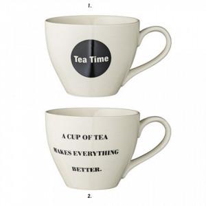 Cana ceramica pentru ceai Tea Time Bloomingville