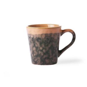 Cana neagra/roz din ceramica 80 ml Espresso Lava Peach HK Living