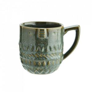 Cana verde din ceramica 9x9 cm Mumbai Madam Stoltz