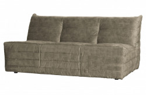 Canapea bej nisipiu din catifea 160 cm Bag Woood