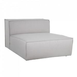 Canapea modulara gri din poliester si lemn 130 cm Filasum Denzzo