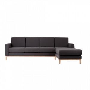 Canapea neagra din poliester pentru 3 persoane Scandica Custom Form