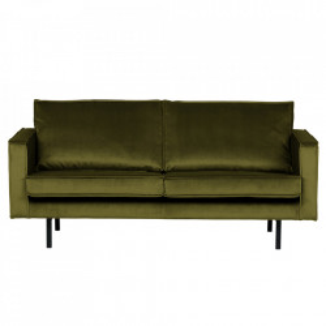 Canapea oliv din catifea pentru 2,5 persoane Rodeo Short Be Pure Home