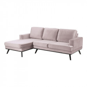 Canapea roz/neagra din textil si lemn cu colt pentru 2 persoane Norwich Left Actona Company