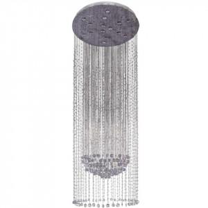 Candelabru argintiu din metal si cristal cu 15 becuri Chiaro Crystal MW Glasberg