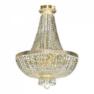 Candelabru auriu din metal si sticla cu 8 becuri Bella Maytoni