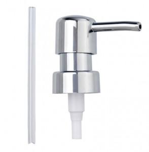 Capac argintiu din plastic pentru dispenser Replacement Pump Head Chrome Wenko