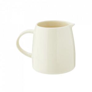 Carafa crem din ceramica 14x18 cm Jug White Madam Stoltz