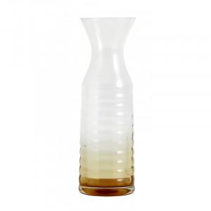 Carafa transparenta/maro chihlimbar din sticla 9x28 cm Damian Nordal