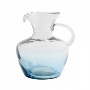 Carafa turcoaz din sticla 22x26 cm Mexican Bubble Nordal