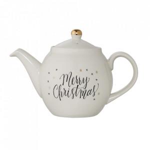 Ceainic alb din ceramica 1,2L Christmas Bloomingville