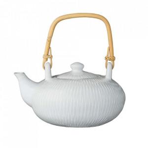 Ceainic alb din ceramica si bambus 800 ml Wilma Bloomingville