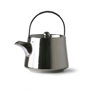 Ceainic argintiu din ceramica si metal 700 ml Bold&Basic HK Living