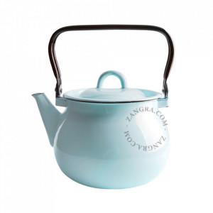 Ceainic ivoriu/albastru din email 2,5 L Lara Zangra