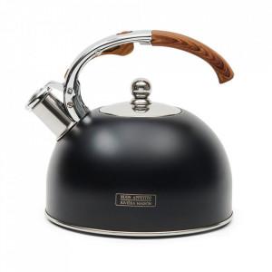 Ceainic negru din aluminiu 2,5 L Thea Riviera Maison