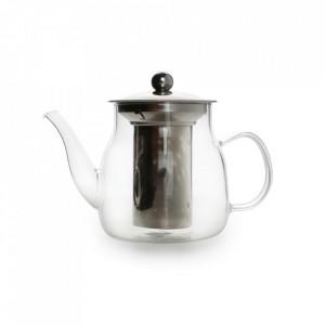 Ceainic transparent din sticla borosilicata si inox 635 ml Diana Aerts