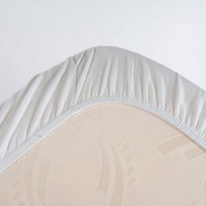 Cearsaf pat cu elastic alb din bumbac 70x140 cm Alana Quax