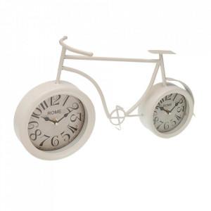 Ceas de masa alb din fier 20x36 cm Rome Versa Home