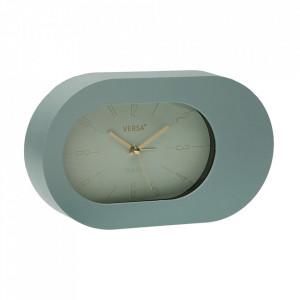 Ceas de masa oval verde menta din plastic 12x21 cm Madonna Versa Home