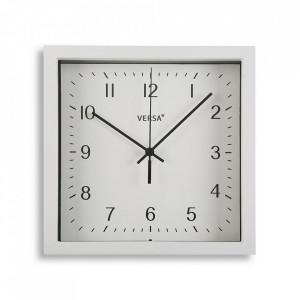 Ceas de perete alb din plastic 23x23 cm Zoe Versa Home