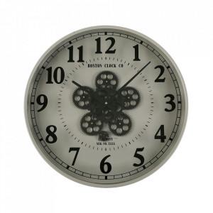 Ceas de perete gri/negru rotund din MDF si metal 50 cm Shane Versa Home