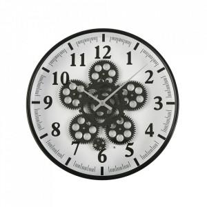 Ceas de perete negru/alb rotund din MDF si metal 36 cm Eros Versa Home