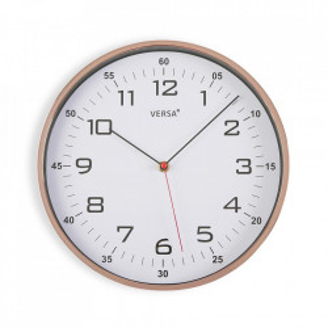 Ceas de perete rotund aramiu/alb din plastic 30,5 cm Blige Versa Home