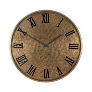 Ceas de perete rotund auriu din inox si sticla 60 cm Bradon Richmond Interiors