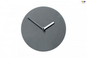 Ceas de perete rotund gri din MDF 20 cm Soft Watch Bolia