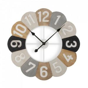 Ceas de perete rotund multicolor din MDF si metal 60 cm Lorea Versa Home