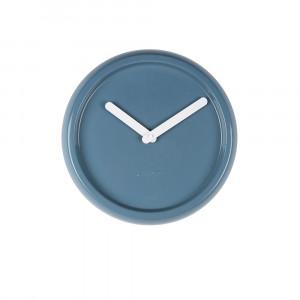 Ceas rotund ceramica albastra Ceramic Time Blue Zuiver