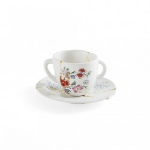 Ceasca de cafea cu farfurioara din portelan 5x6,4 cm Kintsugi V1 Seletti