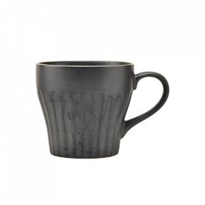 Ceasca neagra din ceramica 8,6x9,1 cm Berica Handle House Doctor